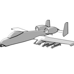 A-10 Thunderbolt (white)