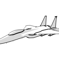 F-15 Eagle (white)