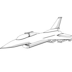 F-16 Falcon (white)