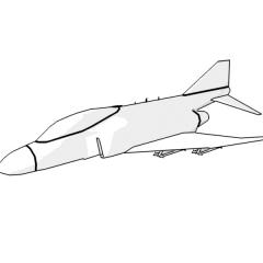 F-4 Phantom (white)