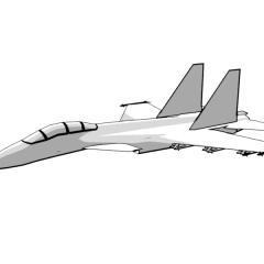 Su-33 Flanker (white)