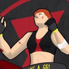 Fight Like a Girl - Black Widow