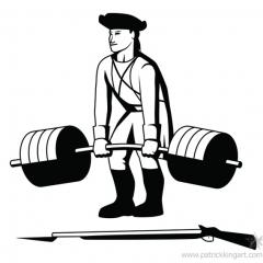 Minuteman Powerlifting Logo