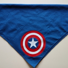 Screen Printed Captain America Bandana