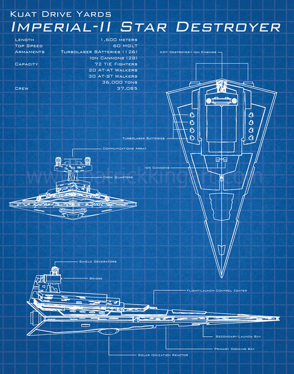Imperial Star Destroyer Blueprints 78