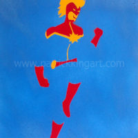 Marvel Comics - Captain Marvel Spray Painted Art Print