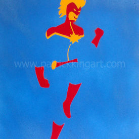 Marvel Comics - Captain Marvel Spray Painted Art Print