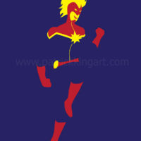 Marvel Comics - Captain Marvel Art Print