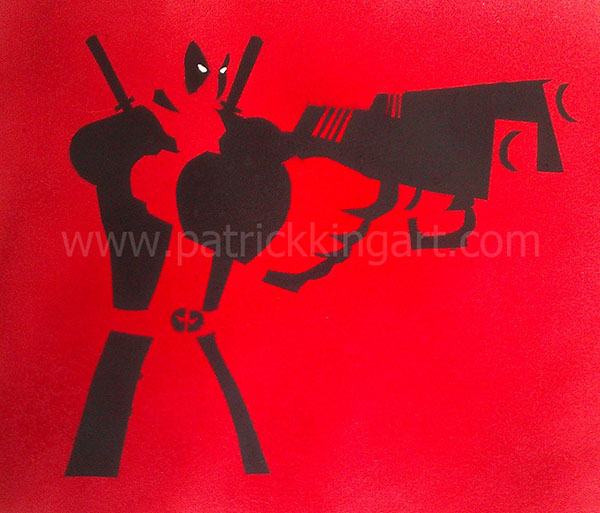 Marvel Comics - Deadpool Spray Painted Art Print