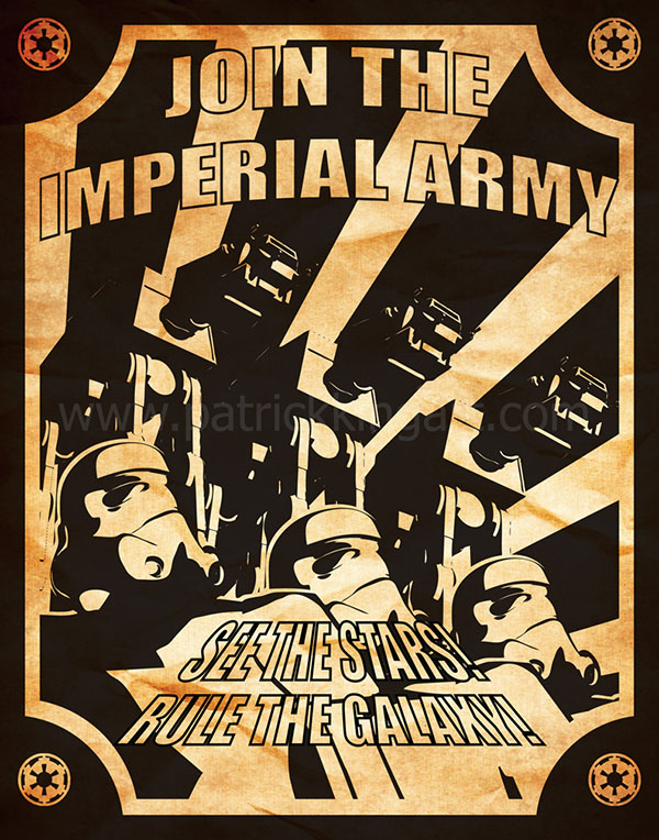 Star Wars Propaganda - Imperial Army Recruiting Poster Art Print