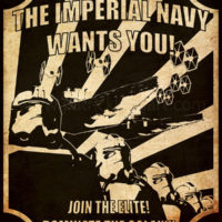 Star Wars Propaganda - Imperial Navy Recruiting Poster Art Print