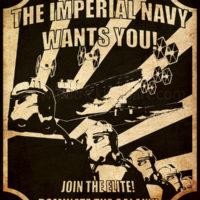 Star Wars Propaganda - Imperial Navy Recruiting Poster Art Print