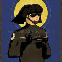 Imperial Saints - Navy Trooper Art Print