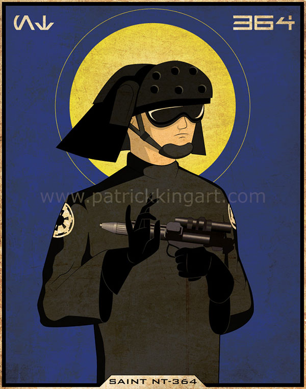 Imperial Saints - Navy Trooper Art Print