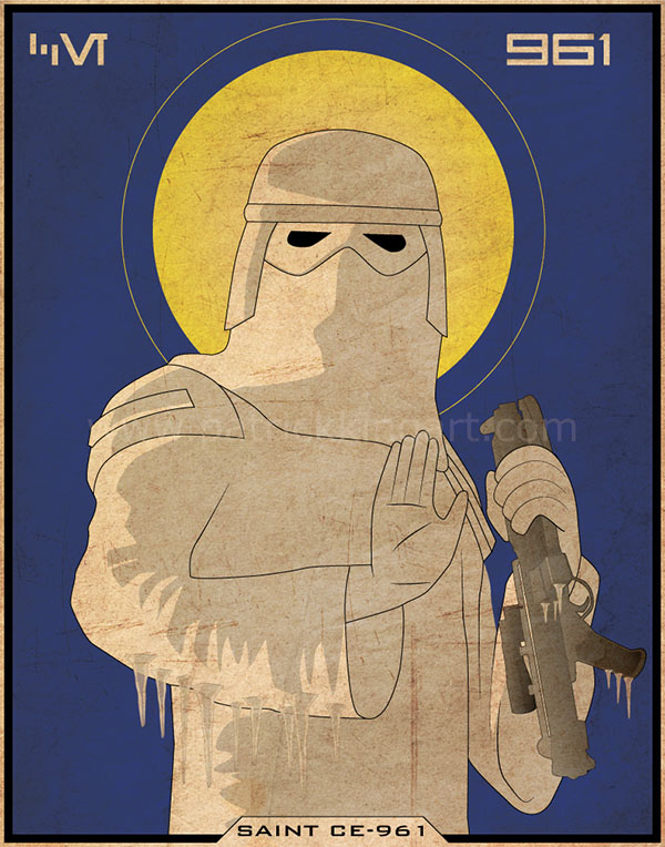 Imperial Saints - Snowtrooper Art Print