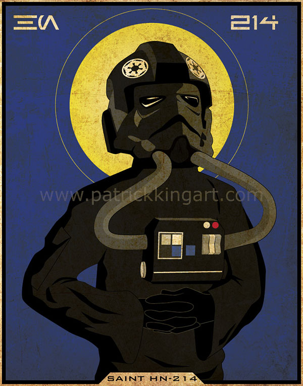 Imperial Saints - TIE Fighter Pilot Art Print