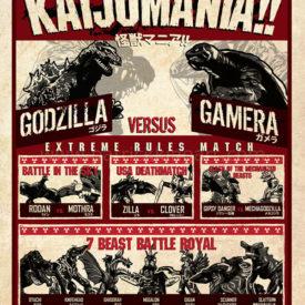 Kaijumania!! Wrestling Poster Art Print