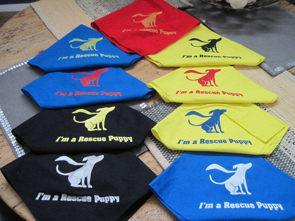 I'm A Rescue Puppy Screen Printed Bandana