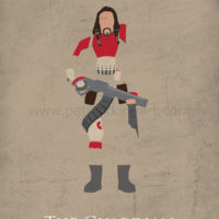Star Wars Rogue One - Baze Malbus Art Print