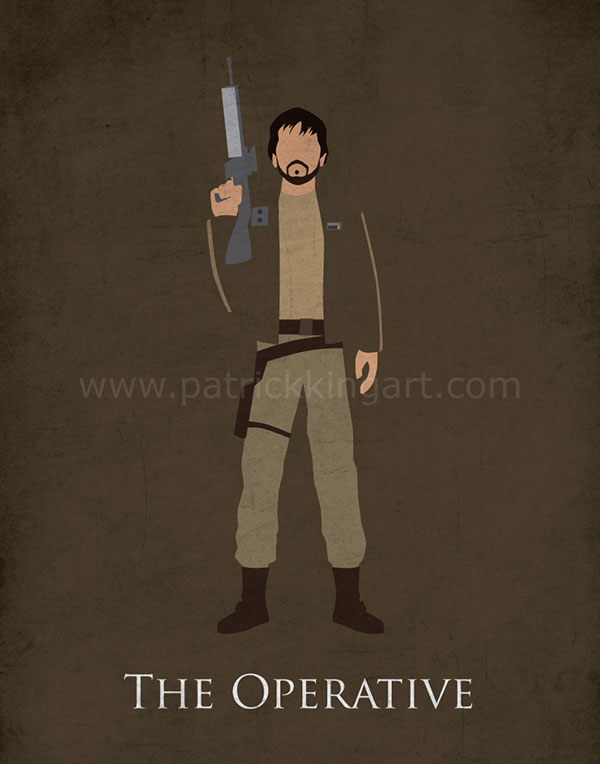 Star Wars Rogue One - Cassian Andor Art Print