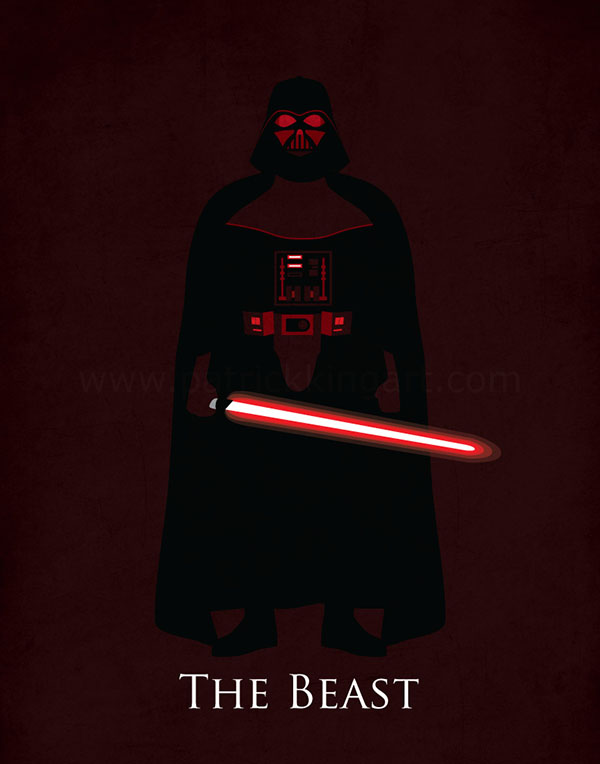 Star Wars Rogue One - Darth Vader Art Print
