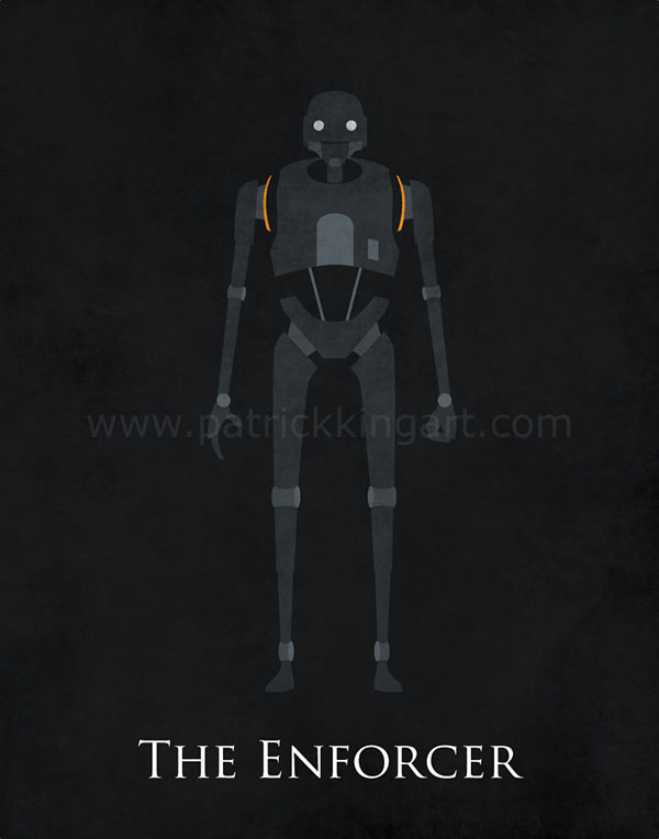 Star Wars Rogue One - K-2SO Art Print