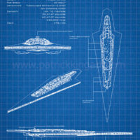 Star Wars Blueprints - Executor Art Print