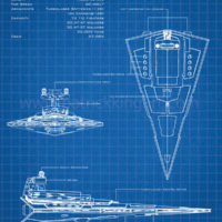 Star Wars Blueprints - Imperial Star Destroyer Art Print