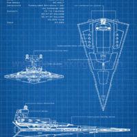 Star Wars Blueprints - Imperial Star Destroyer Art Print