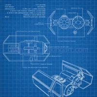 Star Wars Blueprints - TIE Bomber Art Print