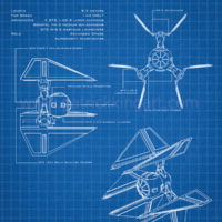 Star Wars Blueprints - TIE Defender Art Print
