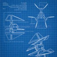 Star Wars Blueprints - TIE Defender Art Print