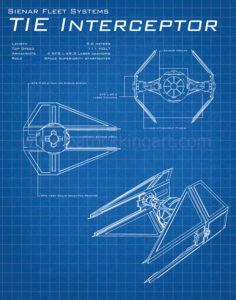 Star Wars Blueprints - TIE Interceptor