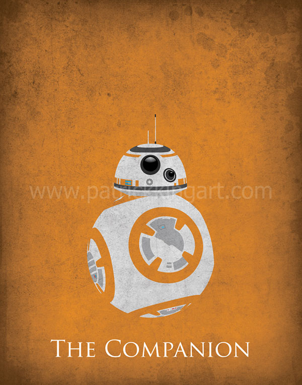 Star Wars The Force Awakens - BB-8 Art Print