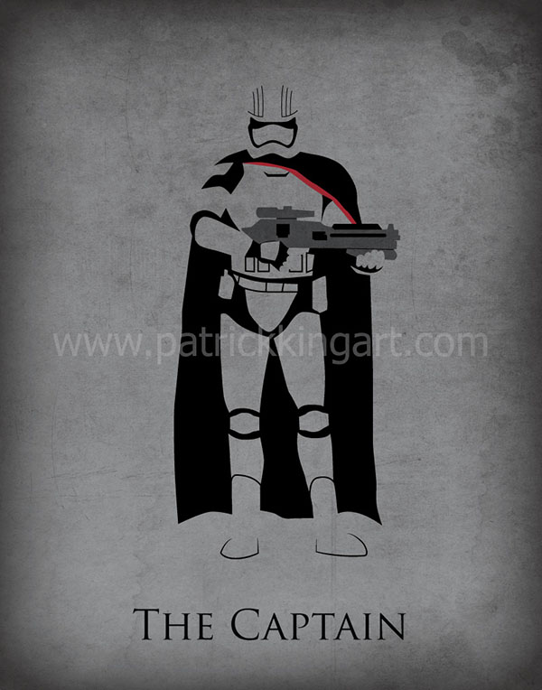 Star Wars The Force Awakens - Captain Phasma Art Print