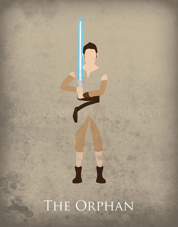 Star Wars The Force Awakens - Rey Art Print