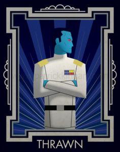 Star Wars Grand Admiral Thrawn Art History - Art Deco