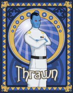 Star Wars Grand Admiral Thrawn Art History - Art Nouveau