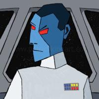 Star Wars Grand Admiral Thrawn Art History - Cubism Art Print