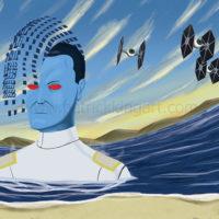 Star Wars Grand Admiral Thrawn Art History - Surrealism Art Print