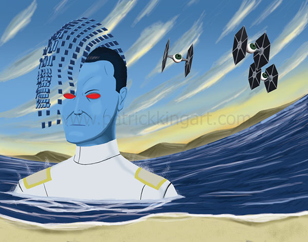 Star Wars Grand Admiral Thrawn Art History - Surrealism Art Print