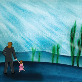 Undersea - A Day At The Park Art Print
