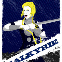 Guardians of Asgard - Valkyrie Art Print
