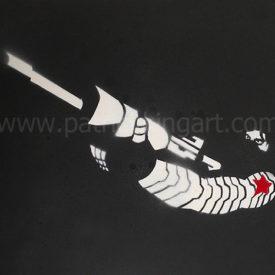 Marvel Comics - Winter Soldier Spray Painted Art Print