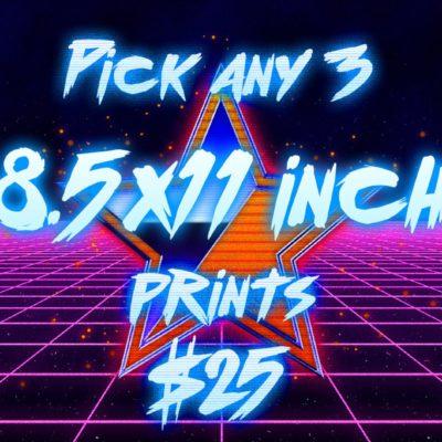 Pick 3 - Postcard Art Prints
