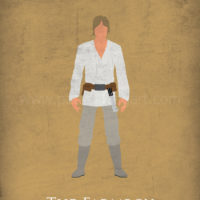 Star Wars A New Hope - Luke Skywalker Art Print
