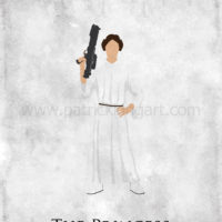 Star Wars A New Hope - Princess Leia Art Print