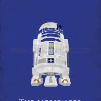 Star Wars A New Hope - R2-D2 Art Print