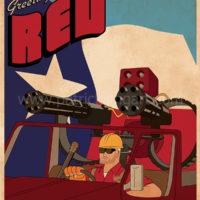 Team Fortress 2 - Red Team Engineer - Art Print