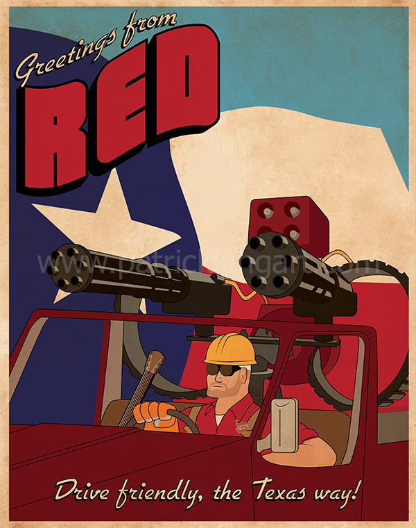 Team Fortress 2 - Red Team Engineer - Art Print